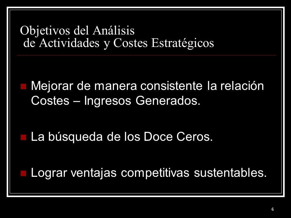 37 Objetivo MEJORAR LA RELACION ENTRE COSTOS Y VENTAS