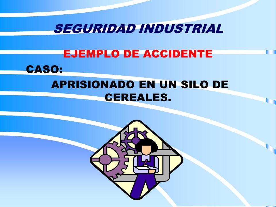 SEGURIDAD INDUSTRIAL EJEMPLO DE ACCIDENTE CASO: APRISIONADO EN UN SILO DE CEREALES.