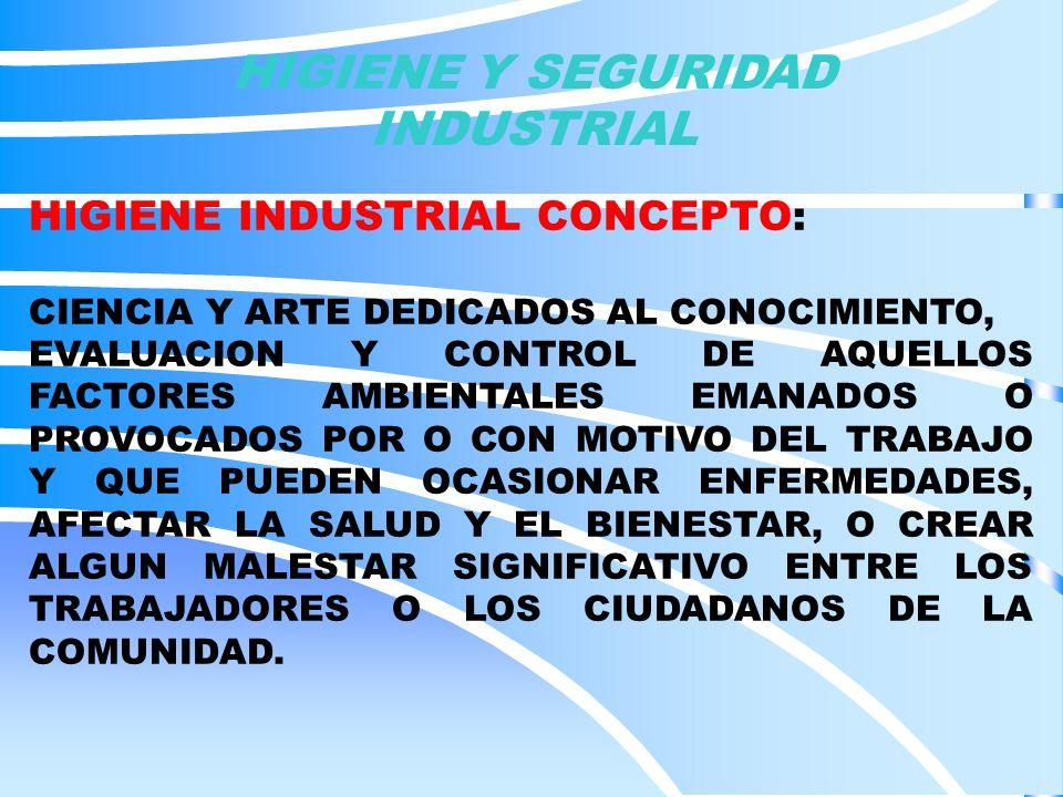 HIGIENE INDUSTRIAL RESPONSABILIDADES DEL PATRONO: ES RESPONSABILIDAD DE PATRONO GARANTIZAR UN AREA SEGURA DE TRABAJO Y CUANDO EXISTAN RIESGOS DOTAR AL PERSONAL DEL EQUIPO DE PROTECCION MINIMO NECESARIO PARA CADA AREA DE TRABAJO.