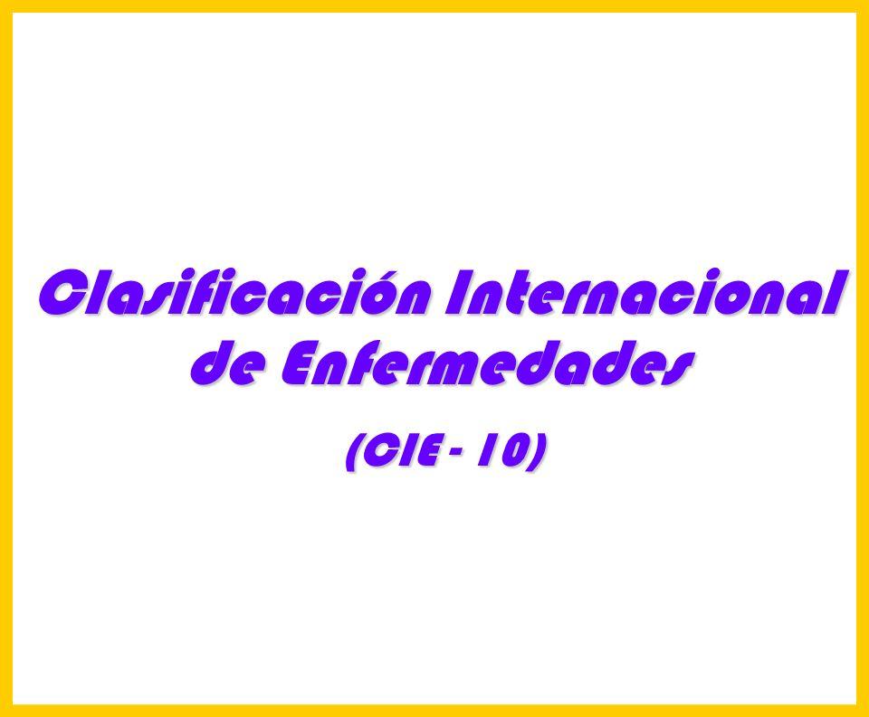 Hosp. Dr. S. ALLENDE Complejo Gerontológico Lic. Carlos Gómez Suárez 103 (CIE 10) (CIE 10) Requisito primordial:Deterioro tanto de la memoria como del