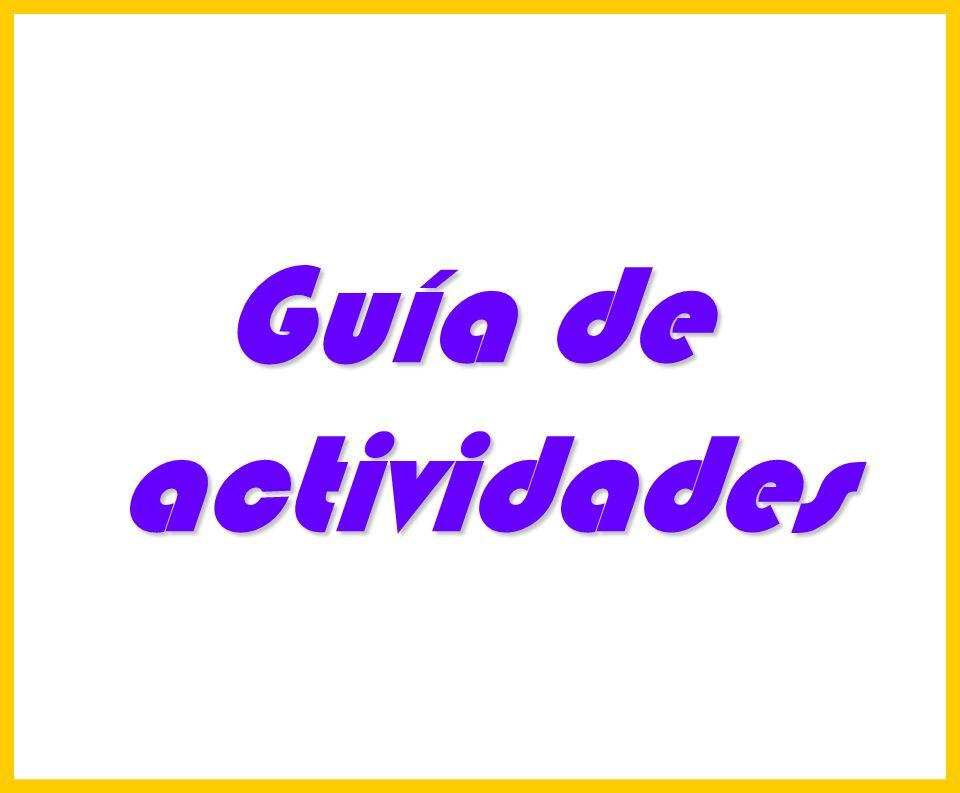 Hosp. Dr. S. ALLENDE Complejo Gerontológico Lic. Carlos Gómez Suárez 175 Guía de actividades