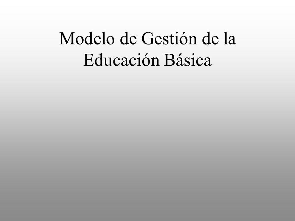 Modelo de Gestión de la Educación Básica