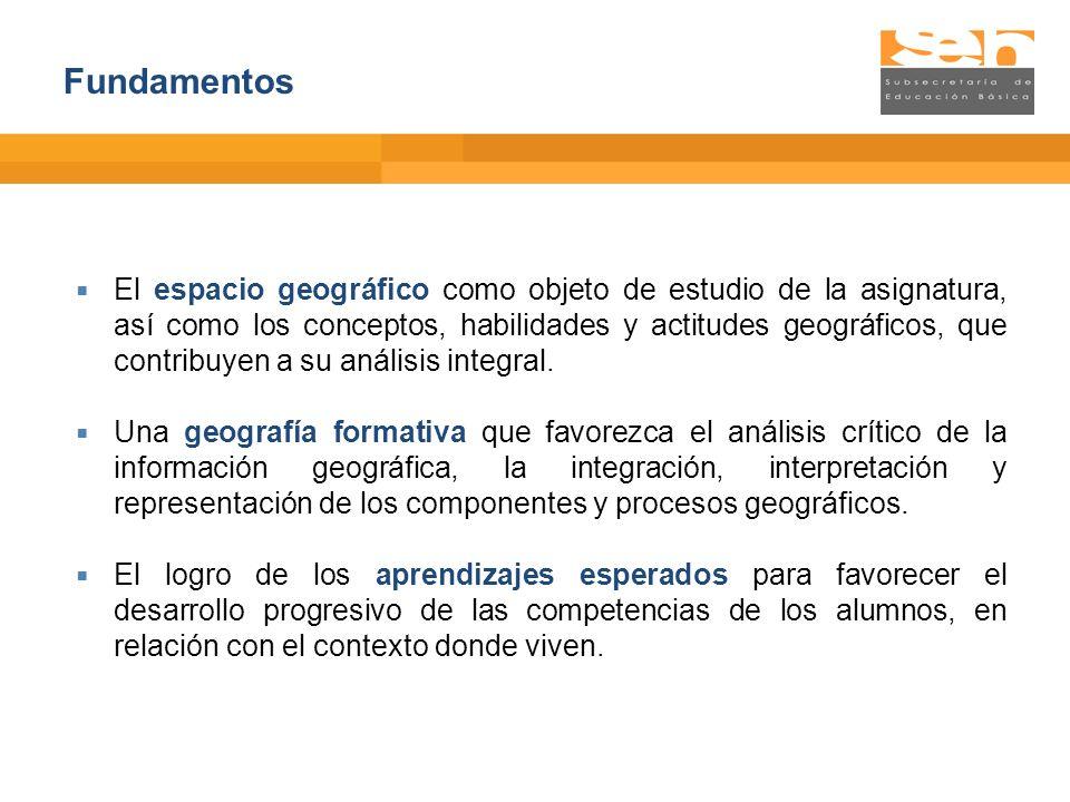 Geografía de México y del mundo 2011 El programa de la asignatura tiene una estructura y presentación que corresponde a las características definidas para los programas de estudio de educación secundaria.