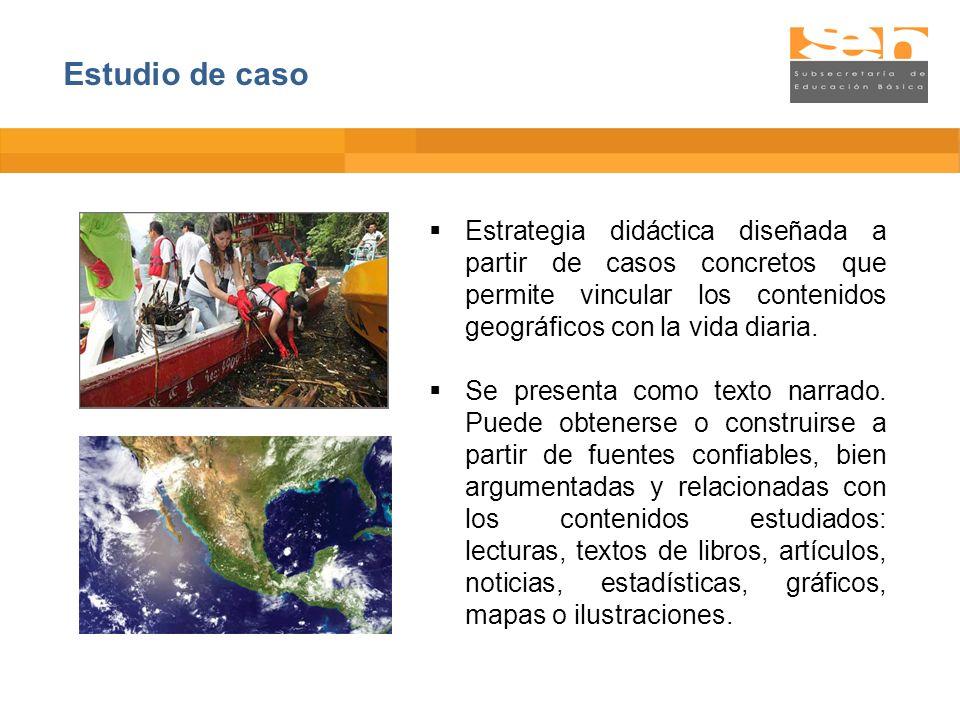 Estrategia didáctica diseñada a partir de casos concretos que permite vincular los contenidos geográficos con la vida diaria. Se presenta como texto n