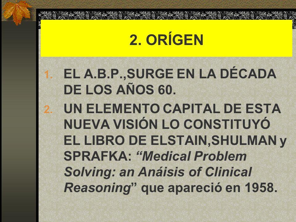 3.APORTES INICIALES DE ELSTAIN Y SU EQUIPO: 1.