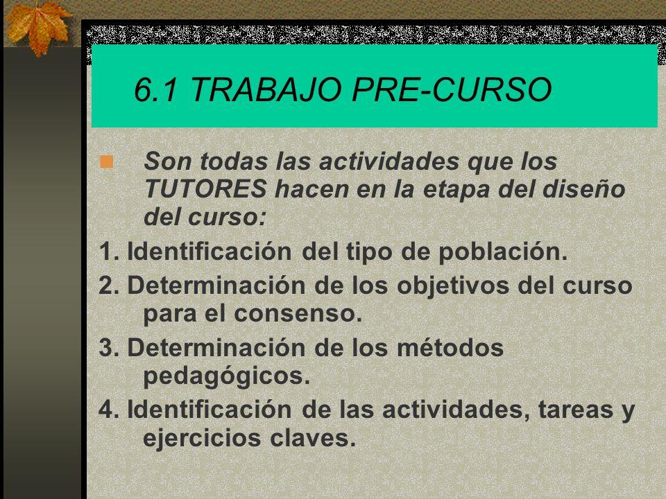 6.1 TRABAJO PRE-CURSO 5.Identificación de los medios y recursos.