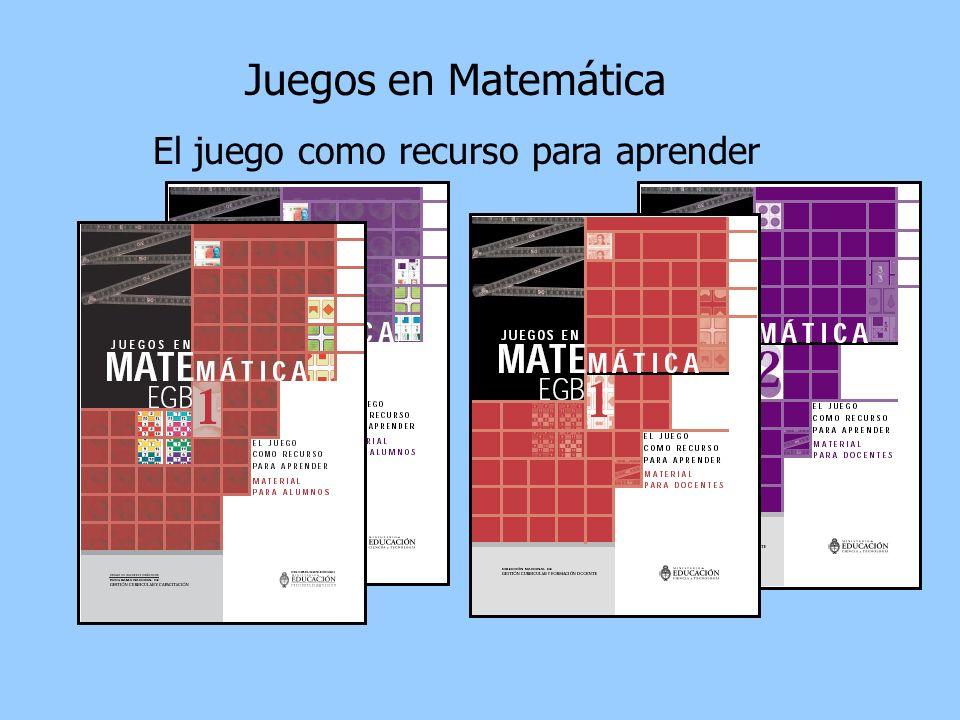 Juegos en Matemática El juego como recurso para aprender