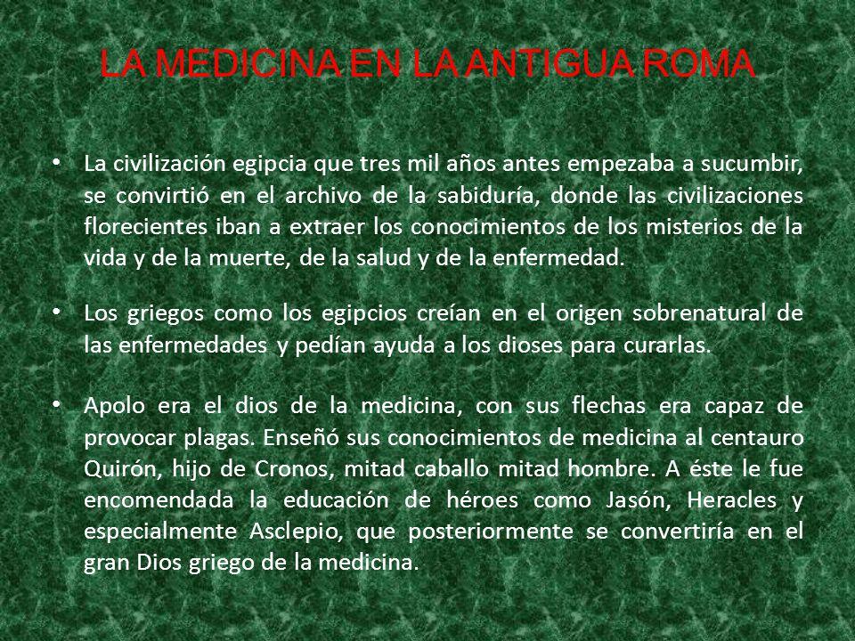 CLAUDIO GALENO A la muerte de su padre, Galeno viajó con 21 años a Esmirna a Corinto y finalmente a Alejandría para seguir con sus estudios avanzados de medicina.