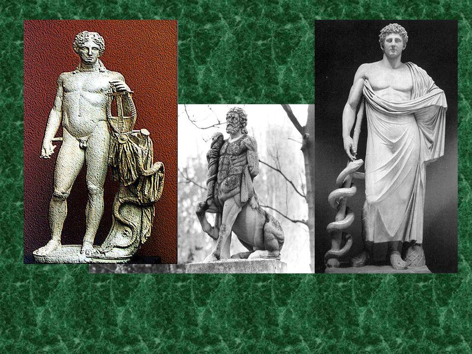 Roma absorvió al dios Asclepio pasándose a llamar Esculapio.
