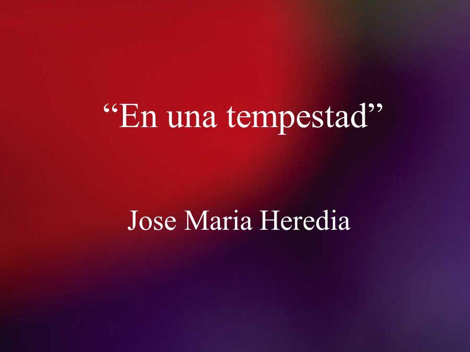 En una tempestad Jose Maria Heredia