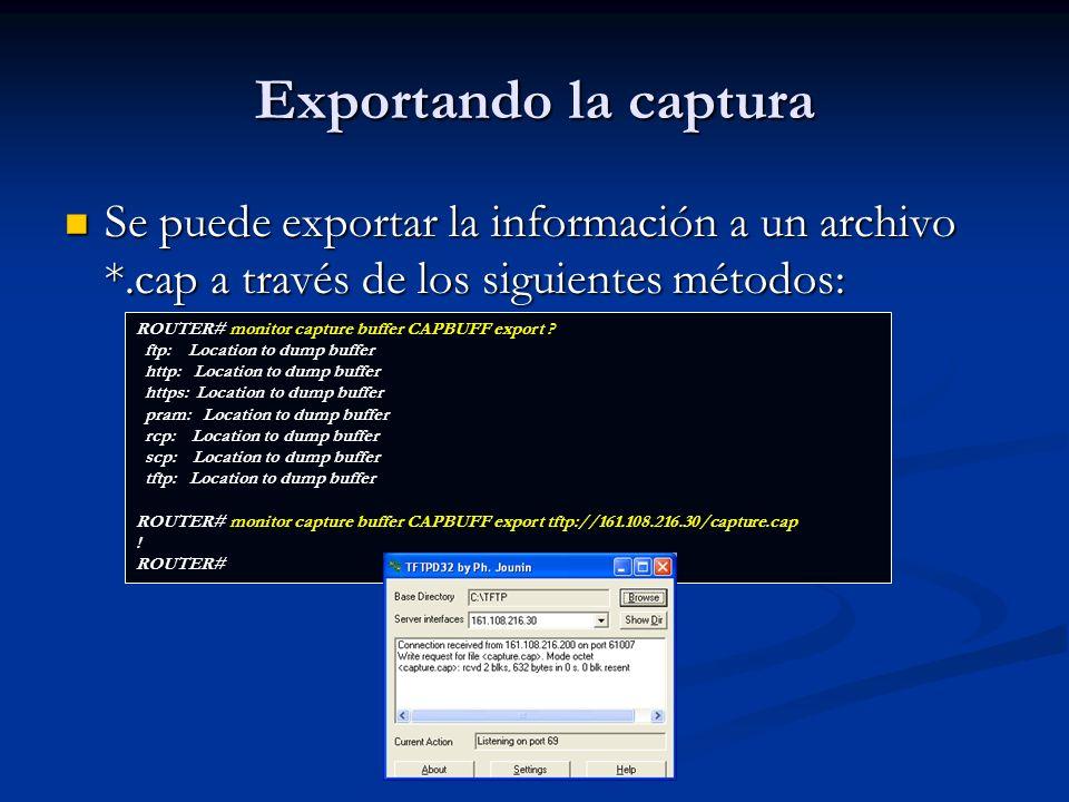 Archivo de captura