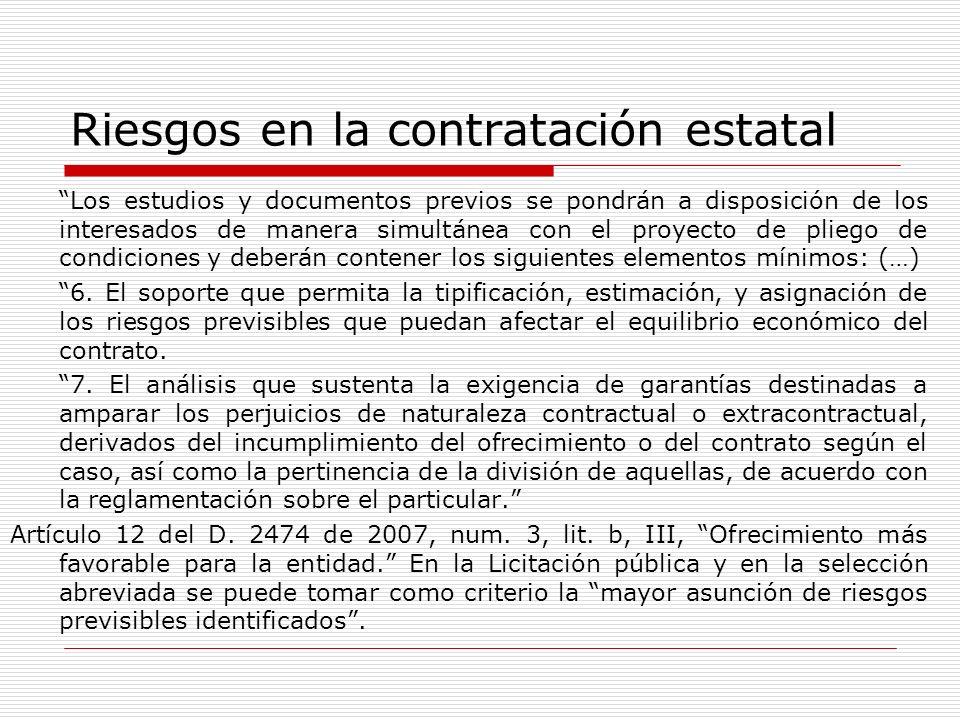 Riesgos en la contratación estatal Artículo 88 del D.