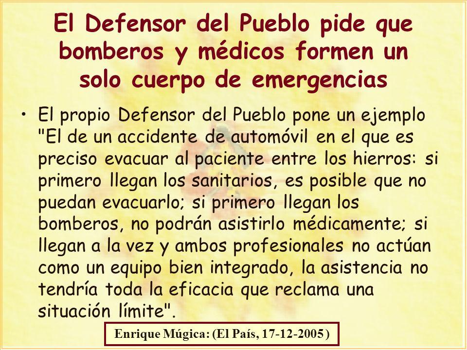 Manuel Marín El propio Defensor del Pueblo pone un ejemplo