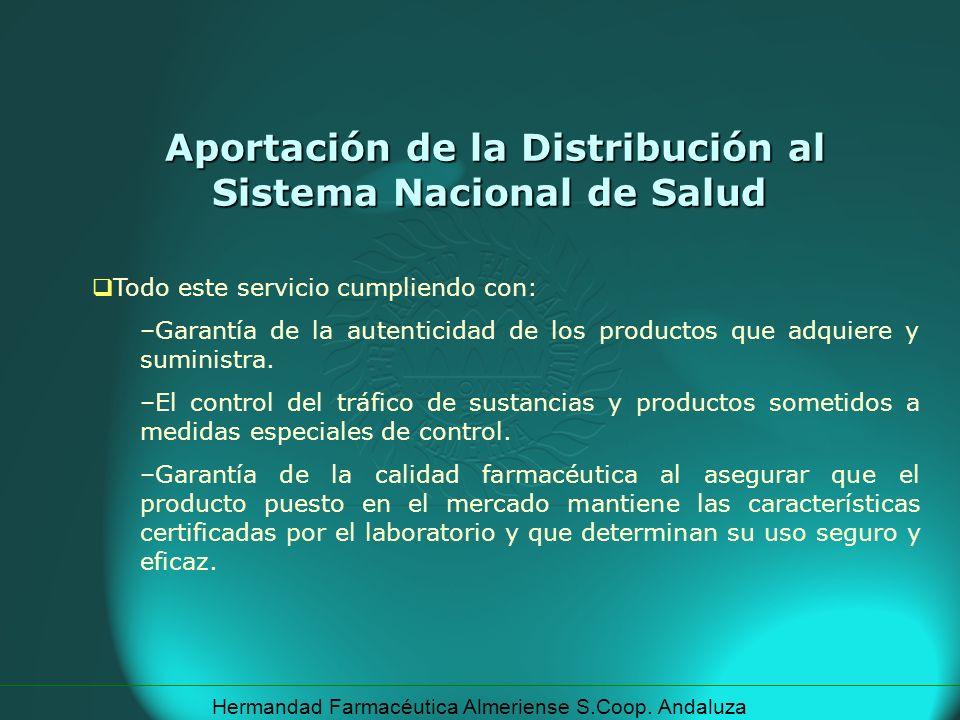 Hermandad Farmacéutica Almeriense S.Coop. Andaluza Todo este servicio cumpliendo con: –Garantía de la autenticidad de los productos que adquiere y sum