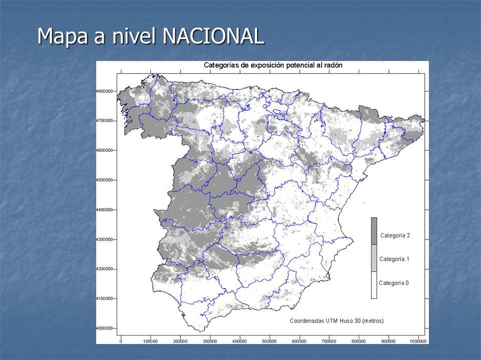 Mapa a nivel NACIONAL