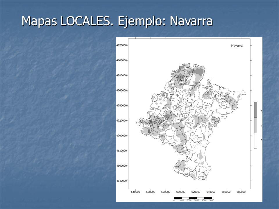 Mapas LOCALES. Ejemplo: Navarra