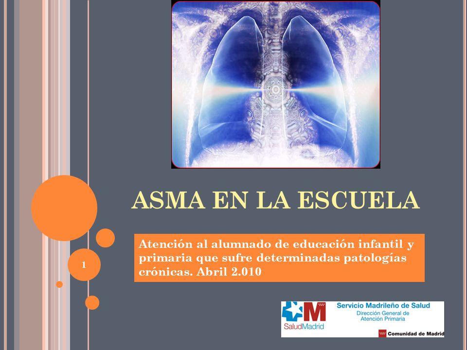 2 ASMA Trastorno inflamatorio, crónico, de los bronquios que consiste en el estrechamiento de las vías aéreas, haciendo difícil la respiración NO ES CONTAGIOSO Broncoespasmo Bronquitis sibilante, asmática o espástica Hiperreactividad bronquial DEFINICIÓNSINÓNIMOS