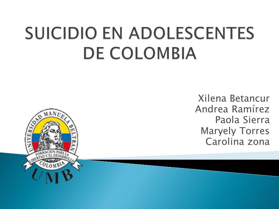 Xilena Betancur Andrea Ramírez Paola Sierra Maryely Torres Carolina zona