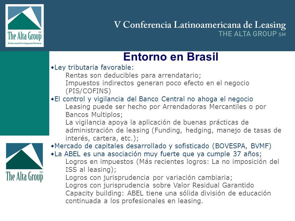 Insertar logo Entorno en Brasil Ley tributaria favorable: Rentas son deducibles para arrendatario; Impuestos indirectos generan poco efecto en el nego