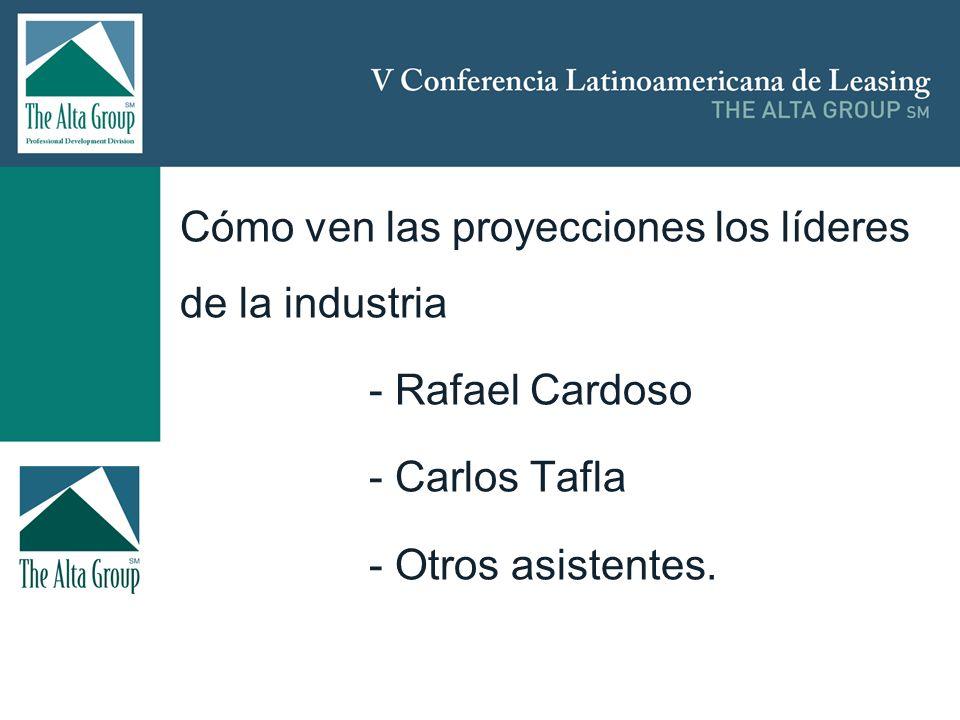 Insertar logo Cómo ven las proyecciones los líderes de la industria - Rafael Cardoso - Carlos Tafla - Otros asistentes.
