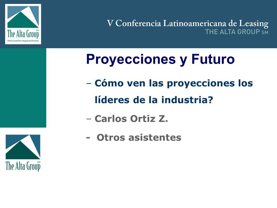Insertar logo Proyecciones y Futuro –Cómo ven las proyecciones los líderes de la industria? –Carlos Ortiz Z. - Otros asistentes