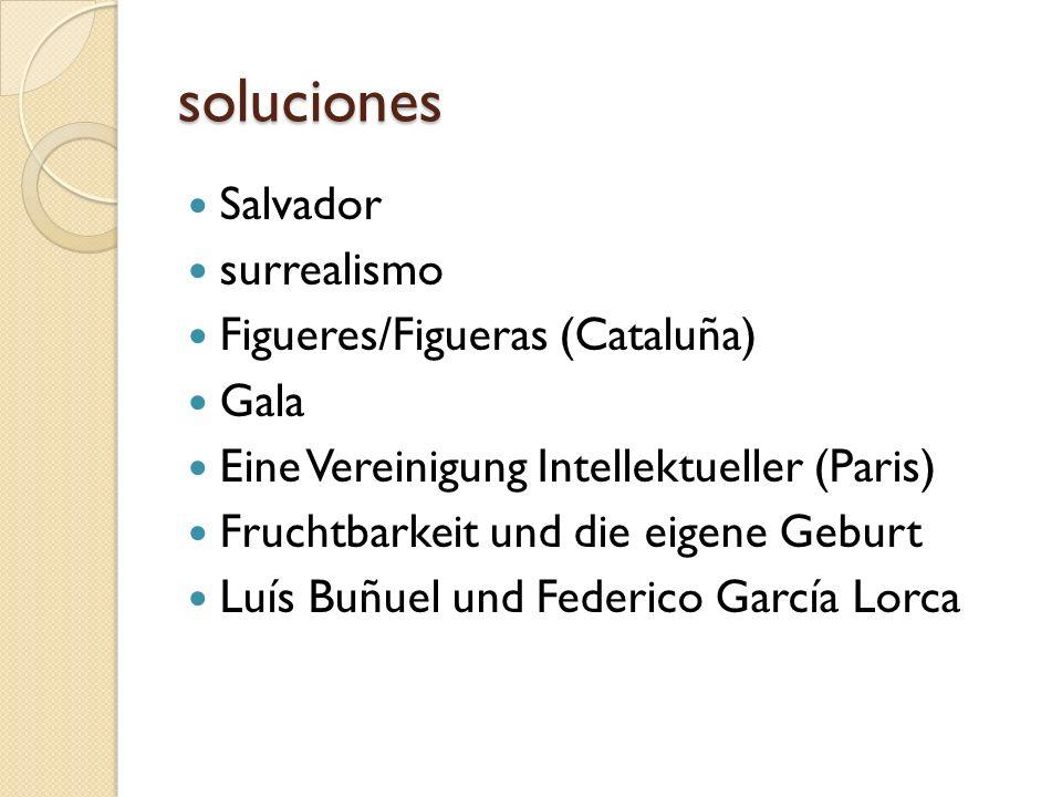 soluciones Salvador surrealismo Figueres/Figueras (Cataluña) Gala Eine Vereinigung Intellektueller (Paris) Fruchtbarkeit und die eigene Geburt Luís Bu