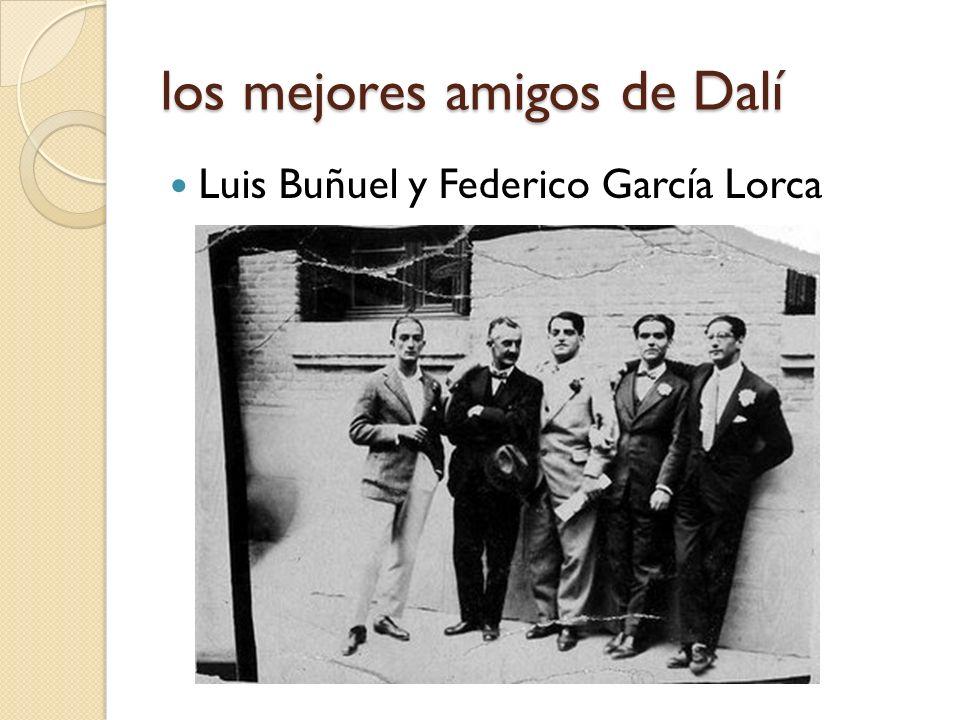 los mejores amigos de Dalí Luis Buñuel y Federico García Lorca