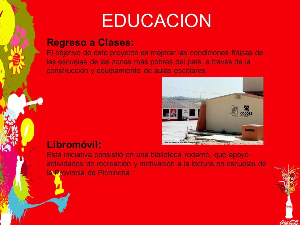 EDUCACION Regreso a Clases: El objetivo de este proyecto es mejorar las condiciones físicas de las escuelas de las zonas más pobres del país, a través de la construcción y equipamiento de aulas escolares.