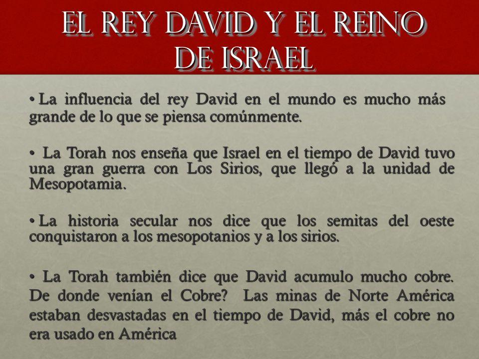 EL REY DAVID Y EL REINO DE ISRAEL La Torah nos enseña que Israel en el tiempo de David tuvo una gran guerra con Los Sirios, que llegó a la unidad de M