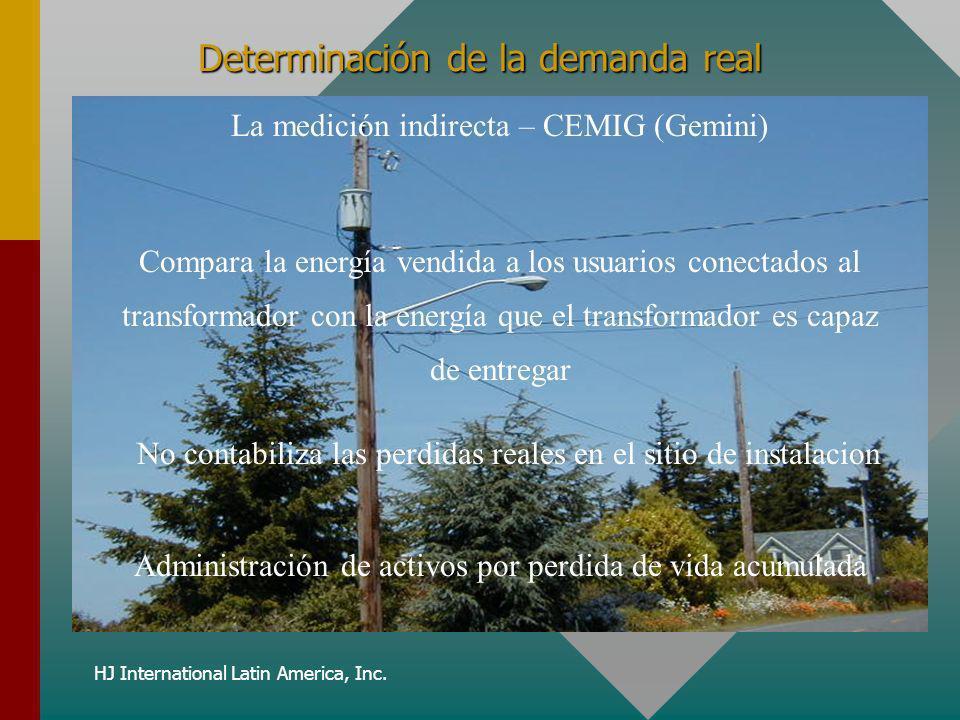 HJ International Latin America, Inc. Determinación de la demanda real La medición indirecta – CEMIG (Gemini) Administración de activos por perdida de