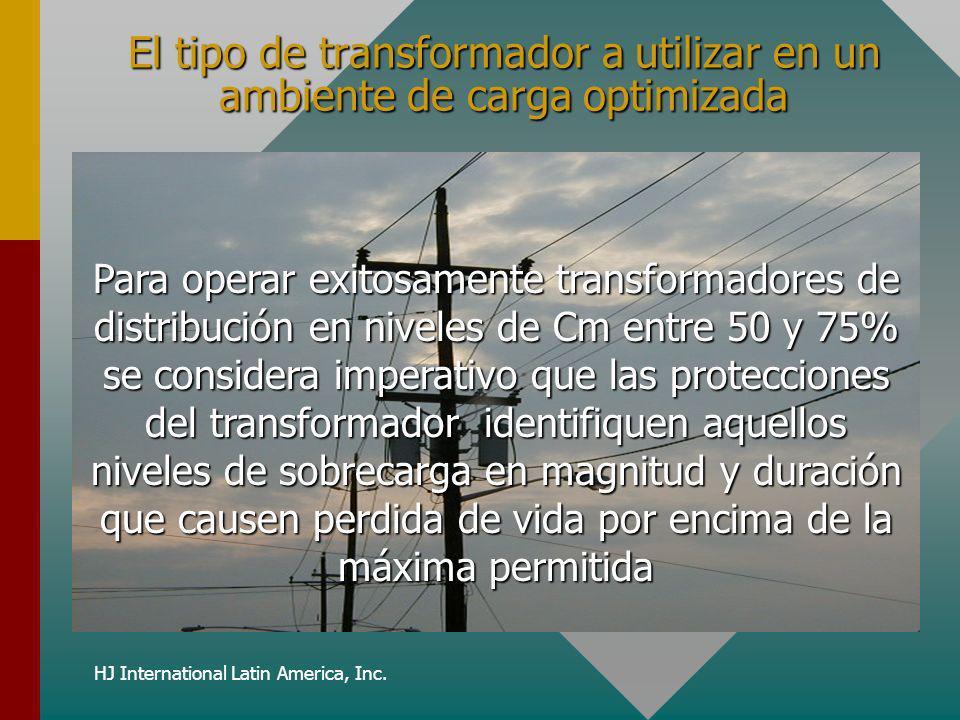 HJ International Latin America, Inc. El tipo de transformador a utilizar en un ambiente de carga optimizada Para operar exitosamente transformadores d