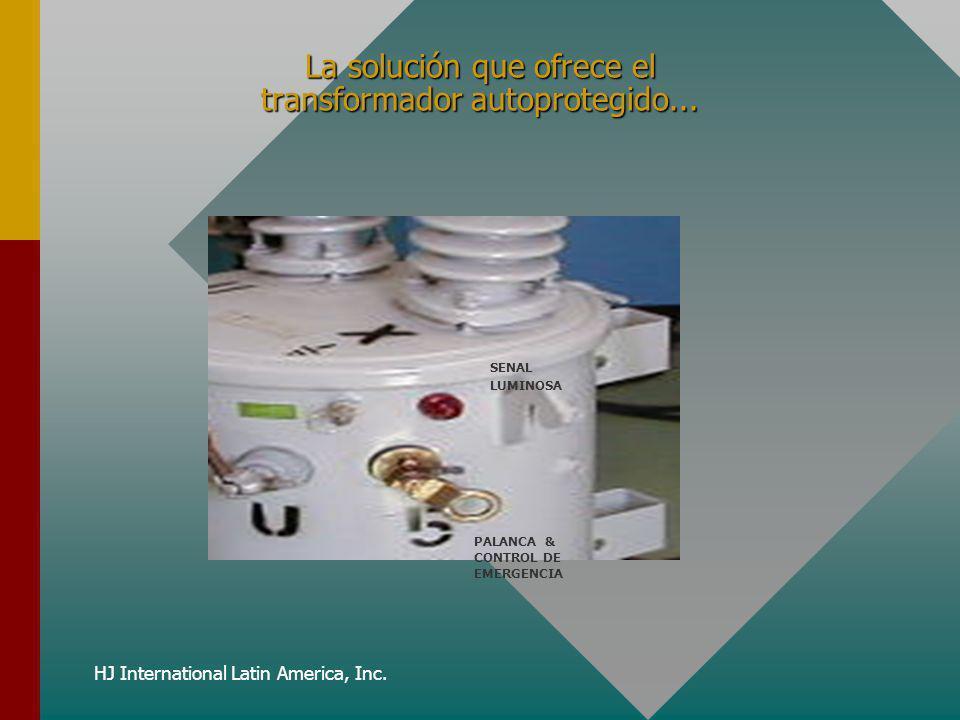 HJ International Latin America, Inc. La solución que ofrece el transformador autoprotegido... SENAL LUMINOSA PALANCA & CONTROL DE EMERGENCIA