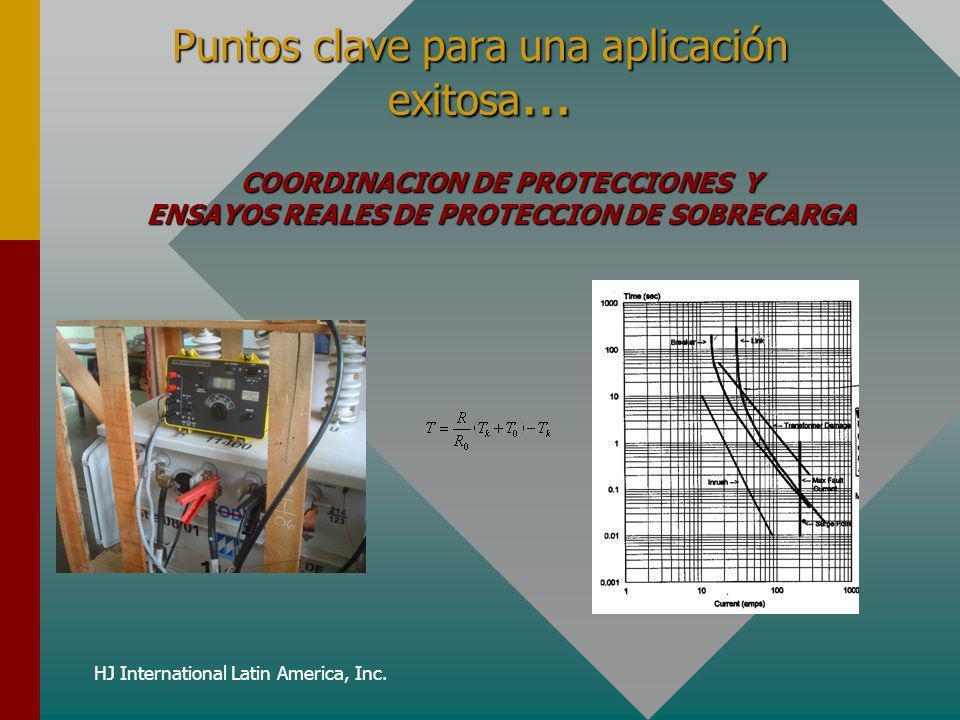 HJ International Latin America, Inc. Puntos clave para una aplicación exitosa... COORDINACION DE PROTECCIONES Y ENSAYOS REALES DE PROTECCION DE SOBREC