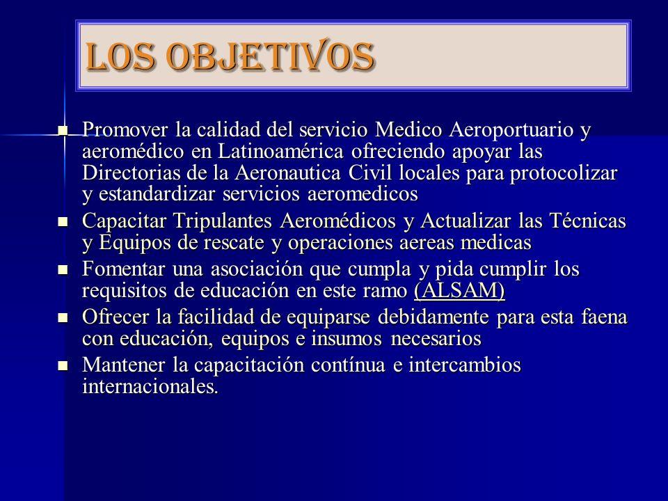 Novedades en Aeromedicina Comenzando el 15 de Julio del 2010, se inicio para los Médicos que trabajen en el ambiente aeromédico o deseen laborar como Directores de Programas Aeromédicos, el Internado del Médico Director de Ambulancia Aérea.