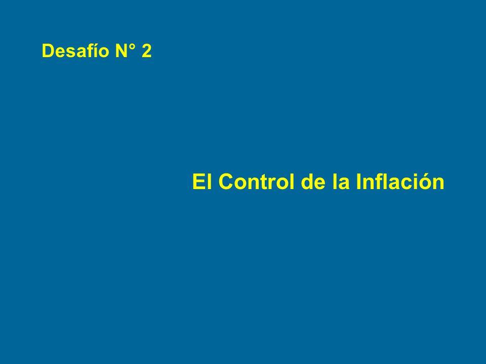 Desafío N° 2 El Control de la Inflación