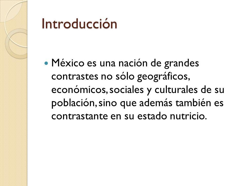 Introducción Por un lado están la desnutrición y las deficiencias nutrimentales específicas (resultado de la privación social y la pobreza).