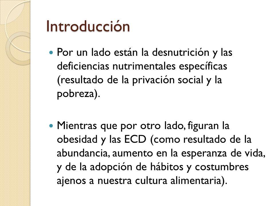 Introducción Nutrimentalmente hablando, también encontramos contrastes en cuanto al género (M vs F).