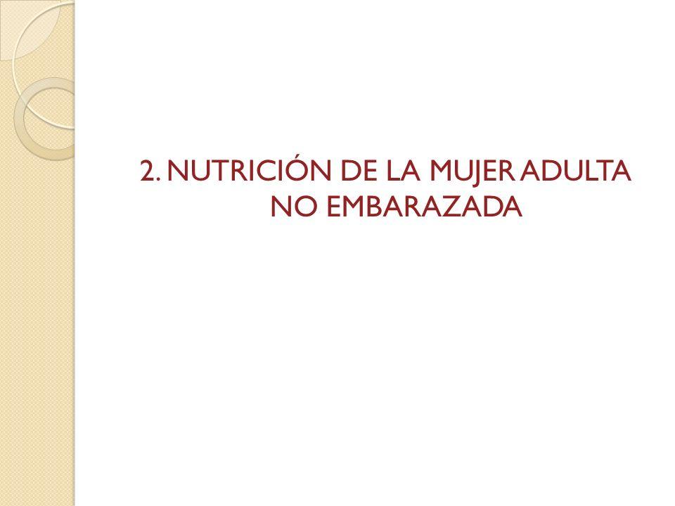 Nutrición en la mujer adulta no embarazada El Edo.