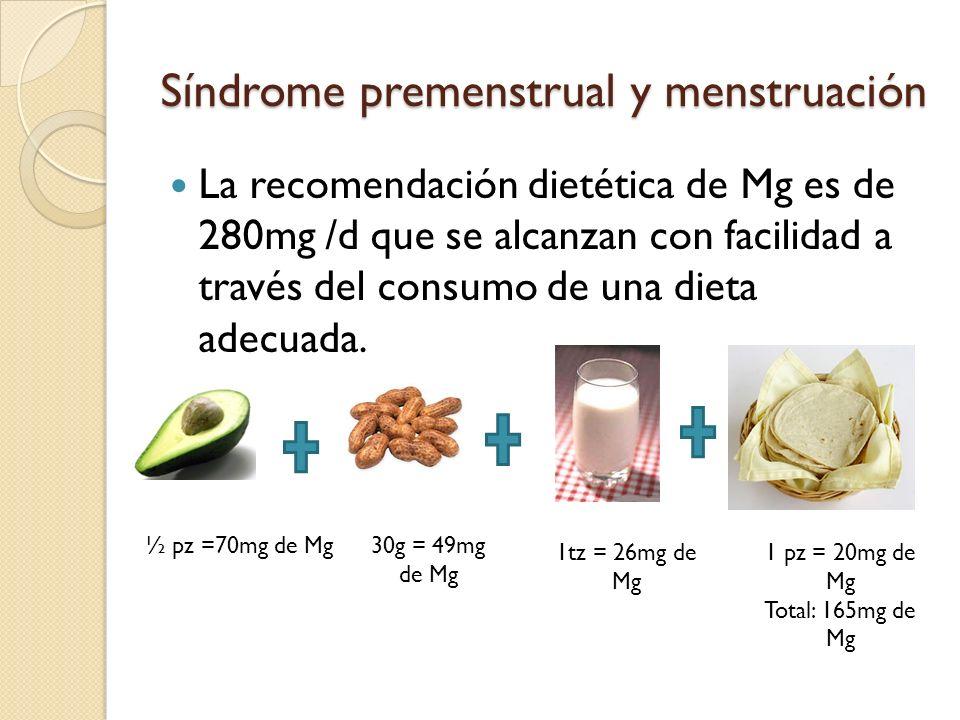 Síndrome premenstrual y menstruación 3.