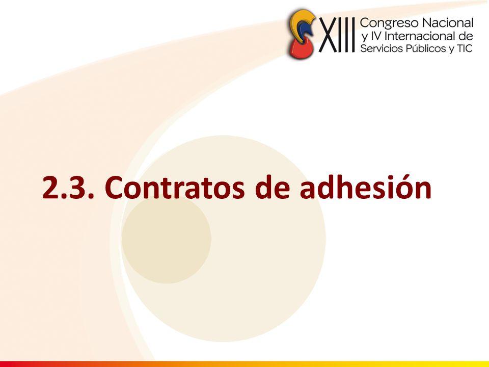 2.3. Contratos de adhesión