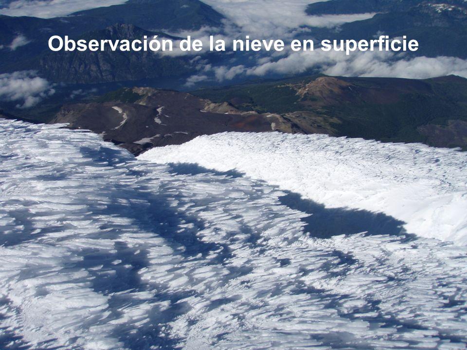Observación de la nieve en superficie
