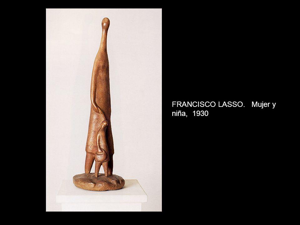 FRANCISCO LASSO. Mujer y niña, 1930