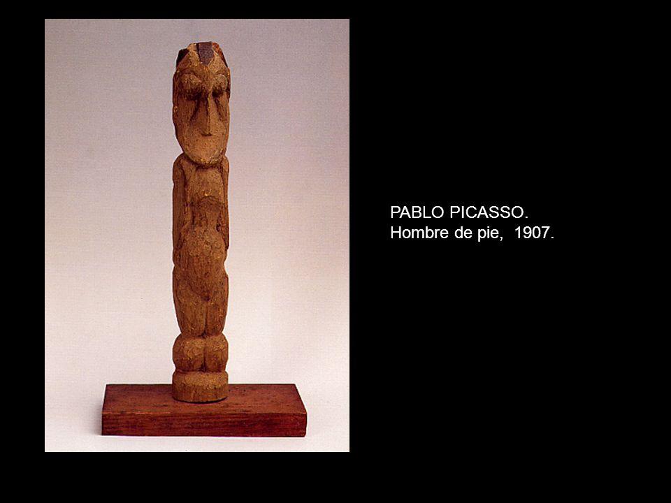 PABLO PICASSO. Hombre de pie, 1907.