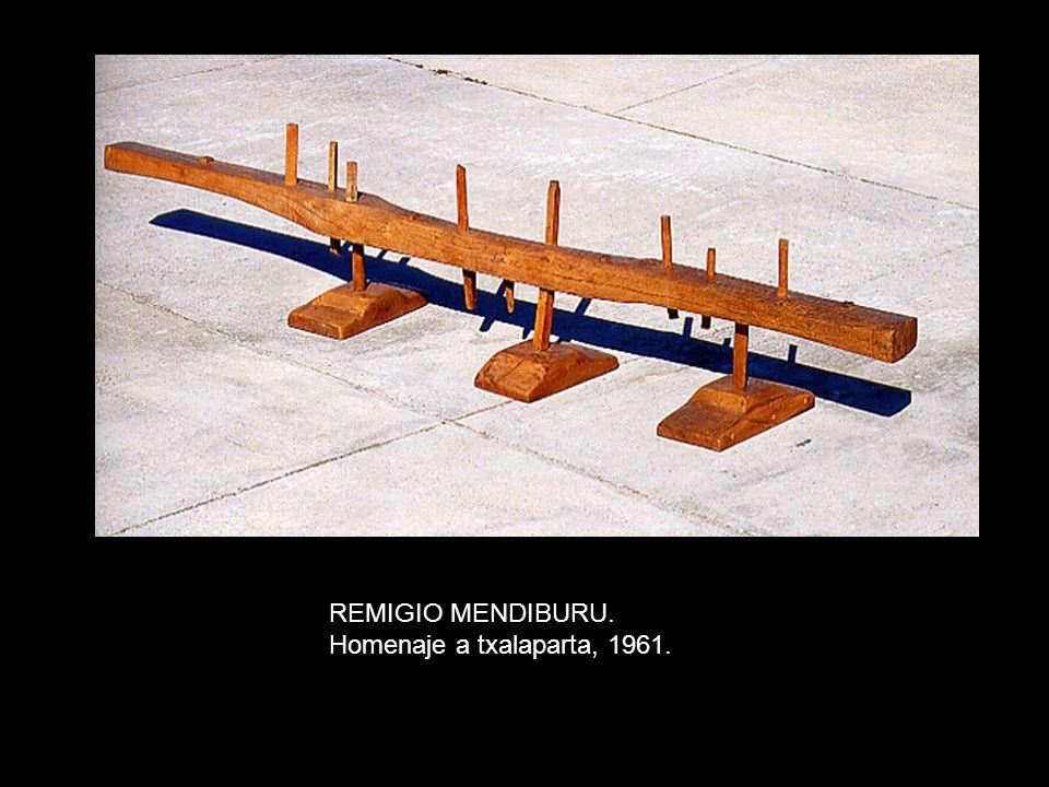 REMIGIO MENDIBURU. Homenaje a txalaparta, 1961.