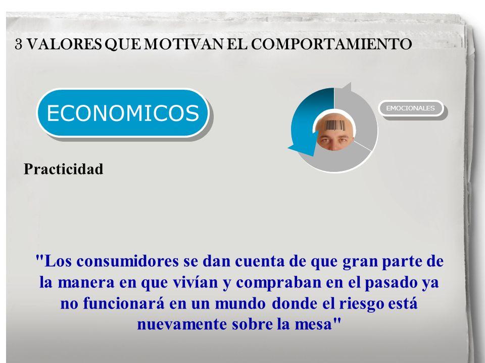 ECONOMICOS 3 VALORES QUE MOTIVAN EL COMPORTAMIENTO Practicidad