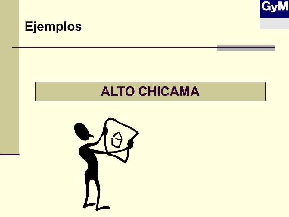 ALTO CHICAMA Ejemplos