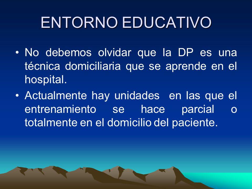 PROGRAMA EDUCATIVO La educación se hará preferiblemente de forma ambulatoria o extrahospitalaria.