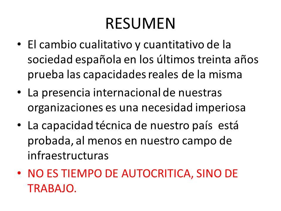 RESUMEN El cambio cualitativo y cuantitativo de la sociedad española en los últimos treinta años prueba las capacidades reales de la misma La presenci