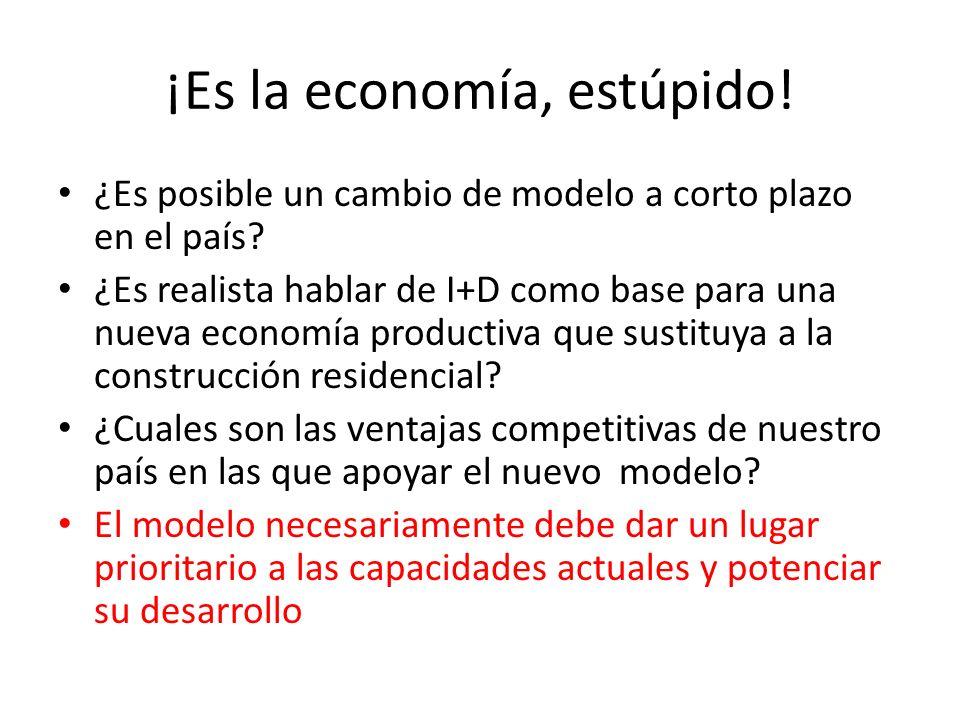 ¡Es la economía, estúpido! ¿Es posible un cambio de modelo a corto plazo en el país? ¿Es realista hablar de I+D como base para una nueva economía prod