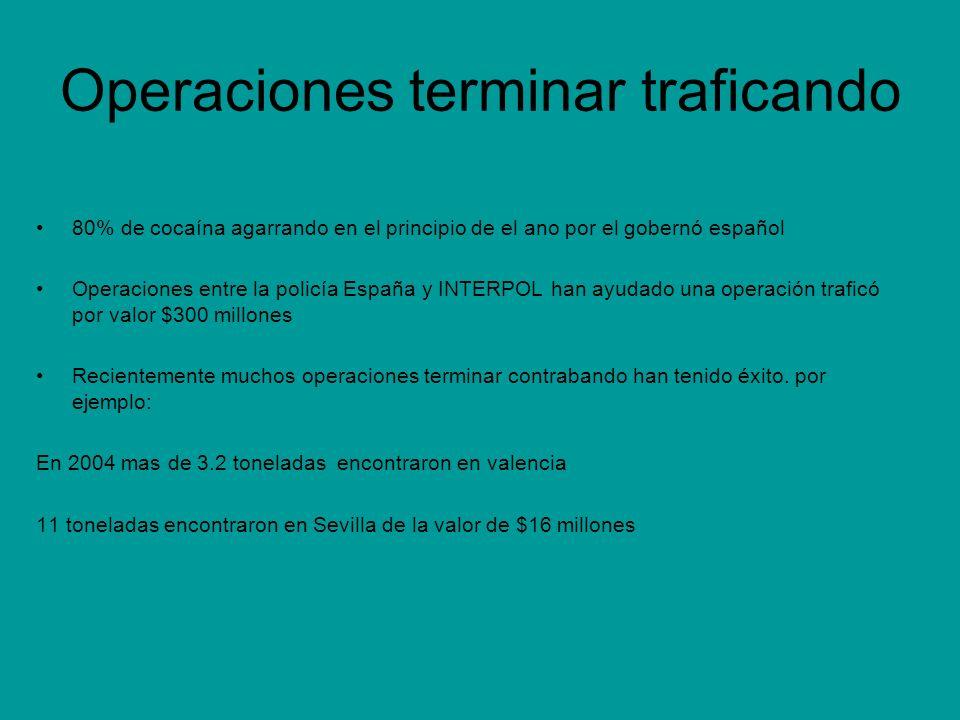 Operaciones terminar traficando 80% de cocaína agarrando en el principio de el ano por el gobernó español Operaciones entre la policía España y INTERP